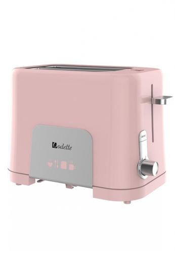 Odette pink Pastel Color 2-Slice Bread Toaster (Pink) 43DF0HL43A18C3GS_1