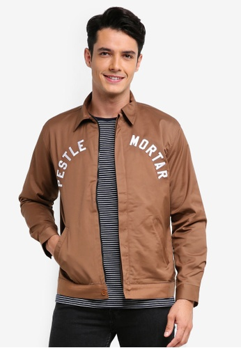 Pestle & Mortar 褐色 Harrington Jacket DAD97AAE13CF33GS_1