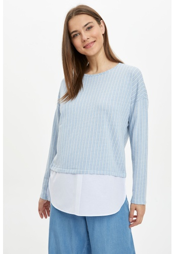 DeFacto blue Woman Long Sleeve Knitted Tunic 22C97AA83E5062GS_1