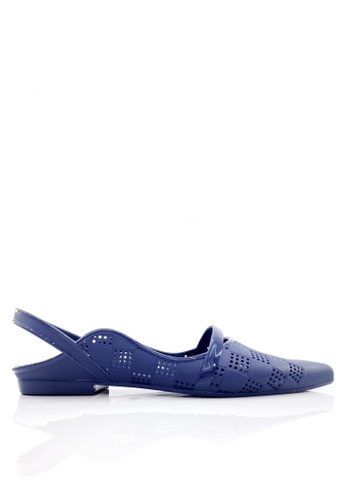 Twenty Eight Shoes 藍色 尖頭後抽帶果凍膠雨鞋 VR180A B77C9SH1C35389GS_1