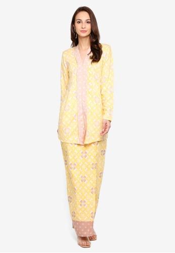 Qhaira Kebaya from Haizi in Yellow