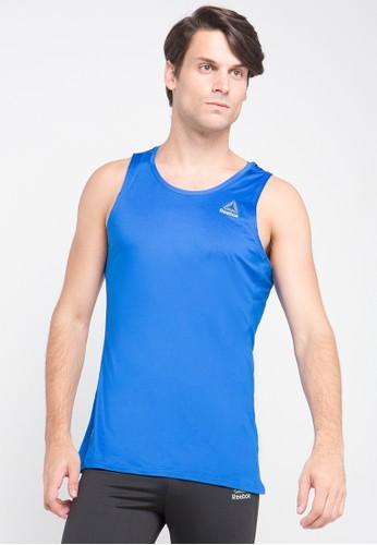 Reebok blue One Series Running Singlet RE246AA0U73MID_1