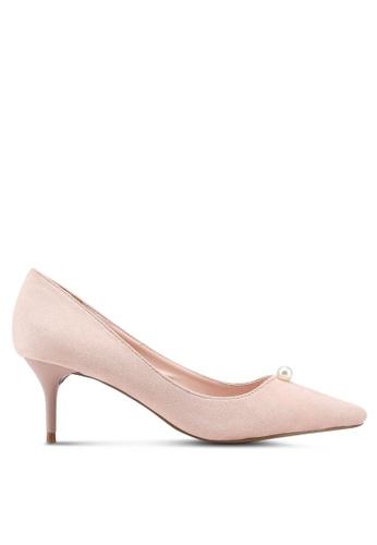 VINCCI pink Pointed Toe Pump Heels 20E6ESHEF27767GS_1