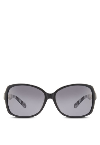 Kate Spade black Fairmont Polarized Sunglasses KA433GL61HWSMY_1