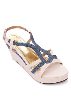 Multi-strap Wedge Sandals