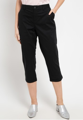 Giordano black Women's Khaki Audrey Pants 8F7CCAA60E3C35GS_1