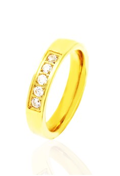Frana Gold Plated with Diamond Ring