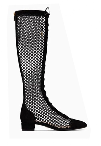 Twenty Eight Shoes black Sexy Mesh Long Boots VB2801 1BD53SHD3C65F7GS_1