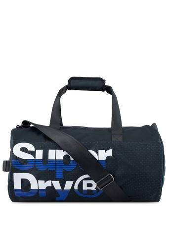 Superdry navy Nue Wave Lineman Barrel Bag 2B8F9ACE85429BGS_1