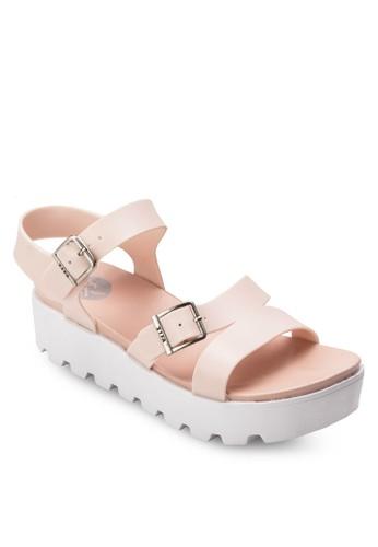 扣環帶厚底果凍涼鞋、 女鞋、 鞋TwentyEightShoes扣環帶厚底果凍涼鞋最新折價