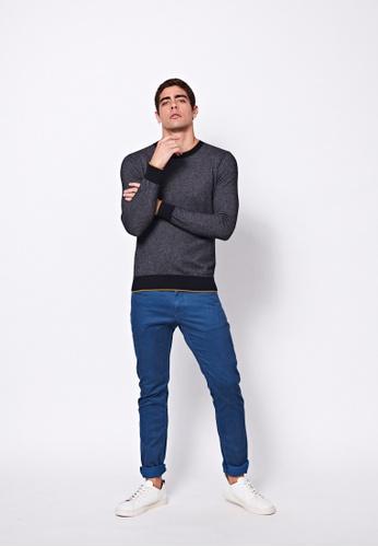 Sisley grey Crew-neck Sweater 6AB88AA0A378B1GS_1