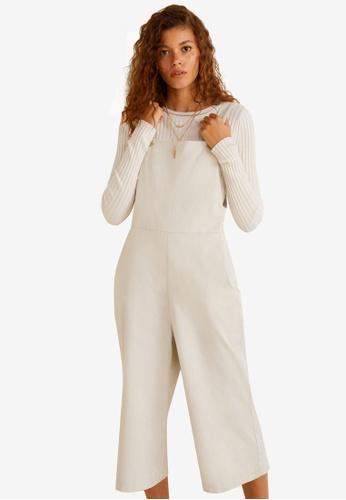 cd74a31966c2 Mango beige Cotton Long Jumpsuit 2191FAAFD6E116GS 1