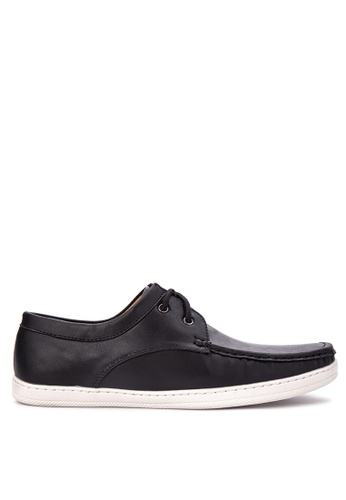H2Ocean black Troy Boat Shoes H2527SH82CQFPH_1