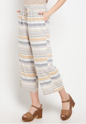 Exit yellow and multi Basic Striped Cullote 66C82AA6086847GS_1