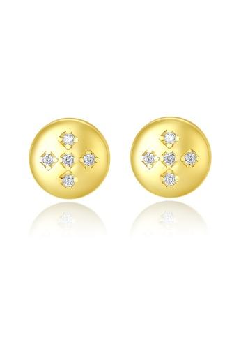SUNRAIS gold High quality Silver S925 gold simple design earrings C60D5AC6AEA336GS_1