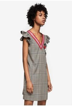 Mango  Printed Beaded Dress