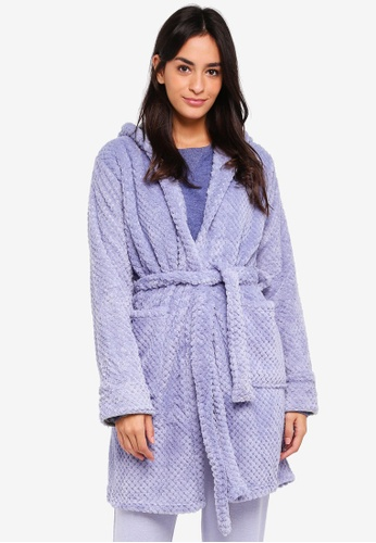 Cotton On Body blue Luxe Plush Gown E2F76AA676DD31GS_1