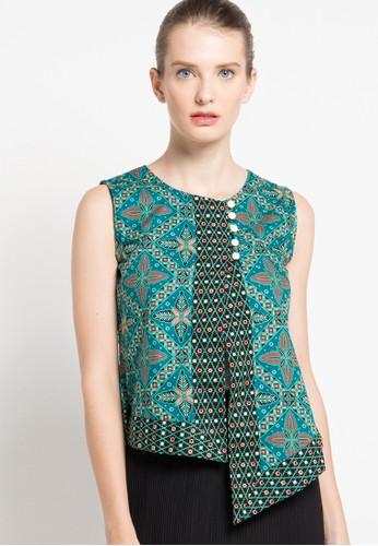 Rianty Batik green Blouse Disha RI993AA49YISID_1