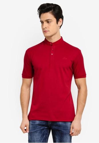 Fidelio 紅色 短袖素色POLO衫 8A9C1AA97E550DGS_1