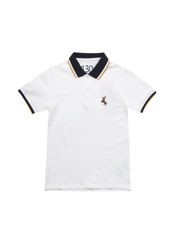 Giordano white Deer Junior Polo Shirt 6EB60KAA5BE7FBGS_1