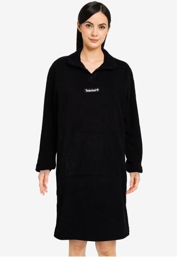 Timberland black Yc Oa Polar Fleece Half Snaps Dress E2595AA1222AE7GS_1