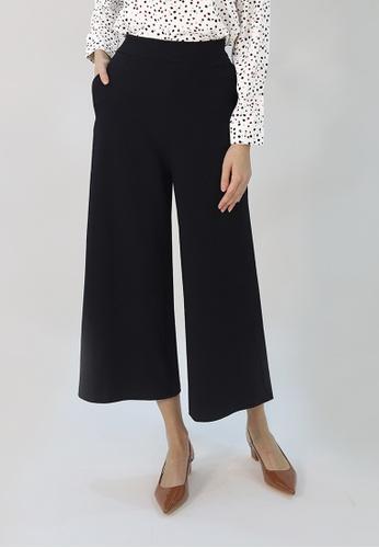 Cheetah black C.Union Wide Leg Pants- CUL-11626 07A58AAB6AC72FGS_1