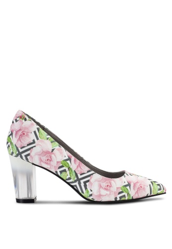 House of Avenues multi Pointy Heels With Floral Print HO685SH32BZVMY_1