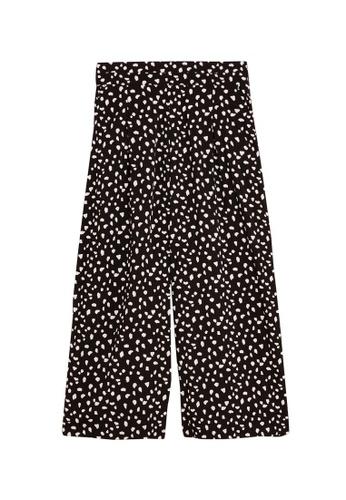 MARKS & SPENCER black M&S Animal Print Wide Leg Culottes 4691AAA7B4EDABGS_1
