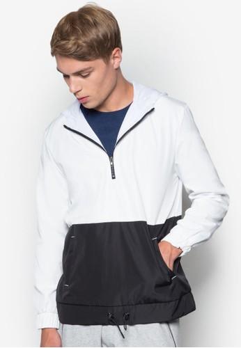 撞色條紋厚夾克, 服飾, 休閒外套及風esprit台灣衣