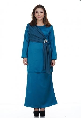 Maya Kurung from NOVEMBERMATE in Green and Blue
