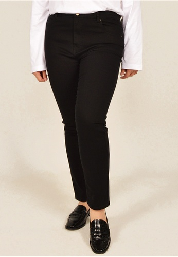 Cheetah black Arissa Plus Size Slim Fit Chino - ARS-11170 6E29AAAB6C3E73GS_1