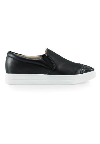 Gripz black Basil Pointed Cap Toe Sneakers A1145SH94D8E08GS_1