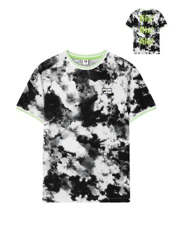 FILA black FILA x MSGM Embroidery Logo Tie-dye T-shirt 6BB71AA4A92D03GS_1
