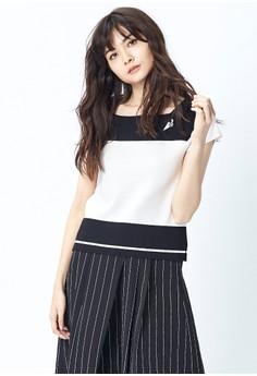 【ZALORA】 OUWEY歐薇 高質感彈性方領針織衫