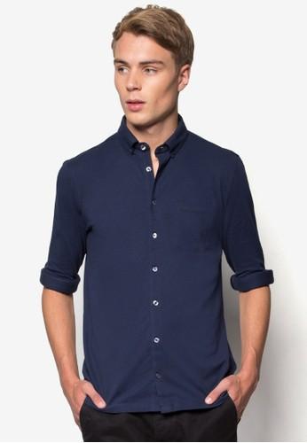 簡約長袖襯esprit門市衫, 服飾, 服飾
