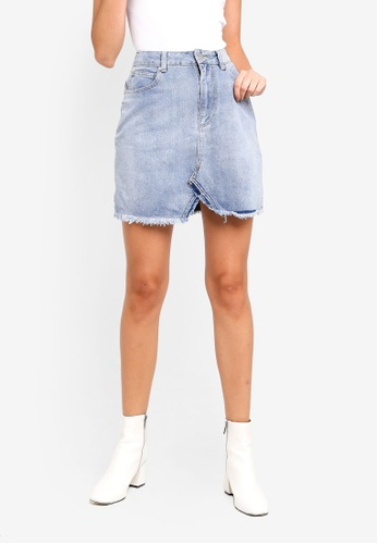 Cotton On blue The Remade Mini Denim Skirt ABD4BAA217AE9FGS_1
