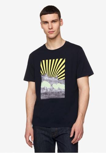 United Colors of Benetton black Printed T-shirt 2CDB1AA1B72DA5GS_1