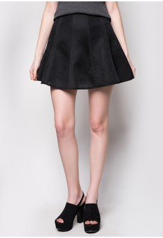 Gored Skirt in Skater Fit and Special Fabric