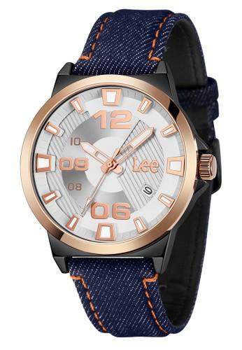 Lee Watches blue Lee Watch M129ABV2-7R Jam Tangan Pria Lee Metropolitan Gents Kulit Biru Denim 8C461AC41FA52EGS_1