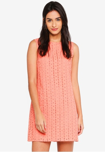 ZALORA pink Sleeveless A-Line Dress D34C5AAF764B14GS_1