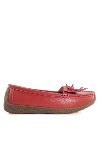 Twenty Eight Shoes red Comfortable Tassel Leather Loafer VC1571 14067SH1248935GS_1