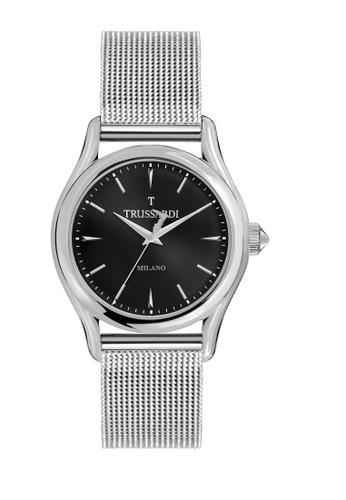 Trussardi silver T-Light Quartz Watch Silver Metal Band Strap R2453127004 8BB7BAC5ED7317GS_1