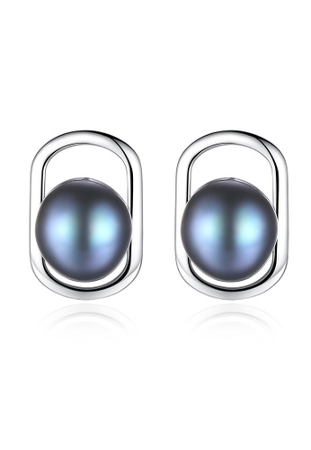 A.Excellence black Premium Black Pearl Elegant Earring 07208AC9A0BE22GS_1