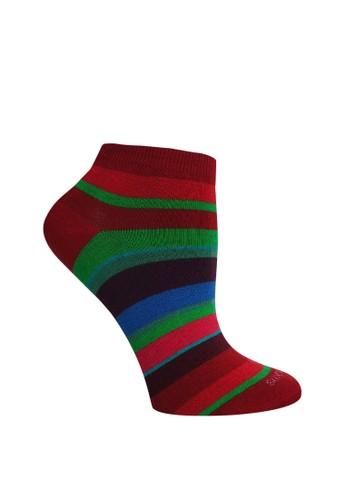 SOXGALERI multi Cotton Stripe Sneaker Socks - Women 1EFA4AA000ACD3GS_1