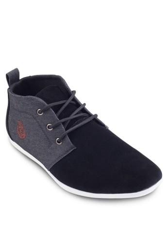 Chukka 異材質拼接繫帶踝靴, 鞋, esprit台灣outlet鞋