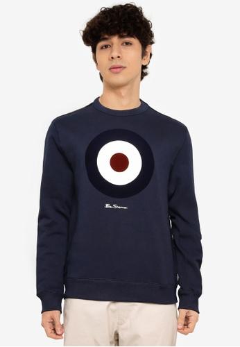 Ben Sherman navy Flock Target Sweatshirt F4A10AAA76A59AGS_1