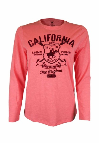 Beverly Hills Polo Club pink BHPC Women Cotton Jersey Graphic Long Sleeves 8E885AAB551185GS_1
