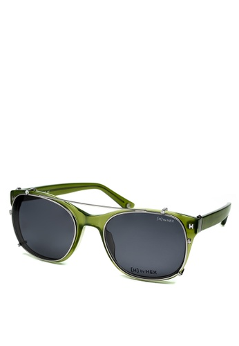 HEX EYEWEAR green Knight - King A. - Optical with Clip-on - Italy Design HE671AC2V1JDHK_1