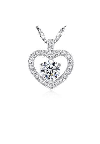 SUNRAIS silver Premium Silver S925 Silver Heart Necklace 7F300AC933B1DDGS_1