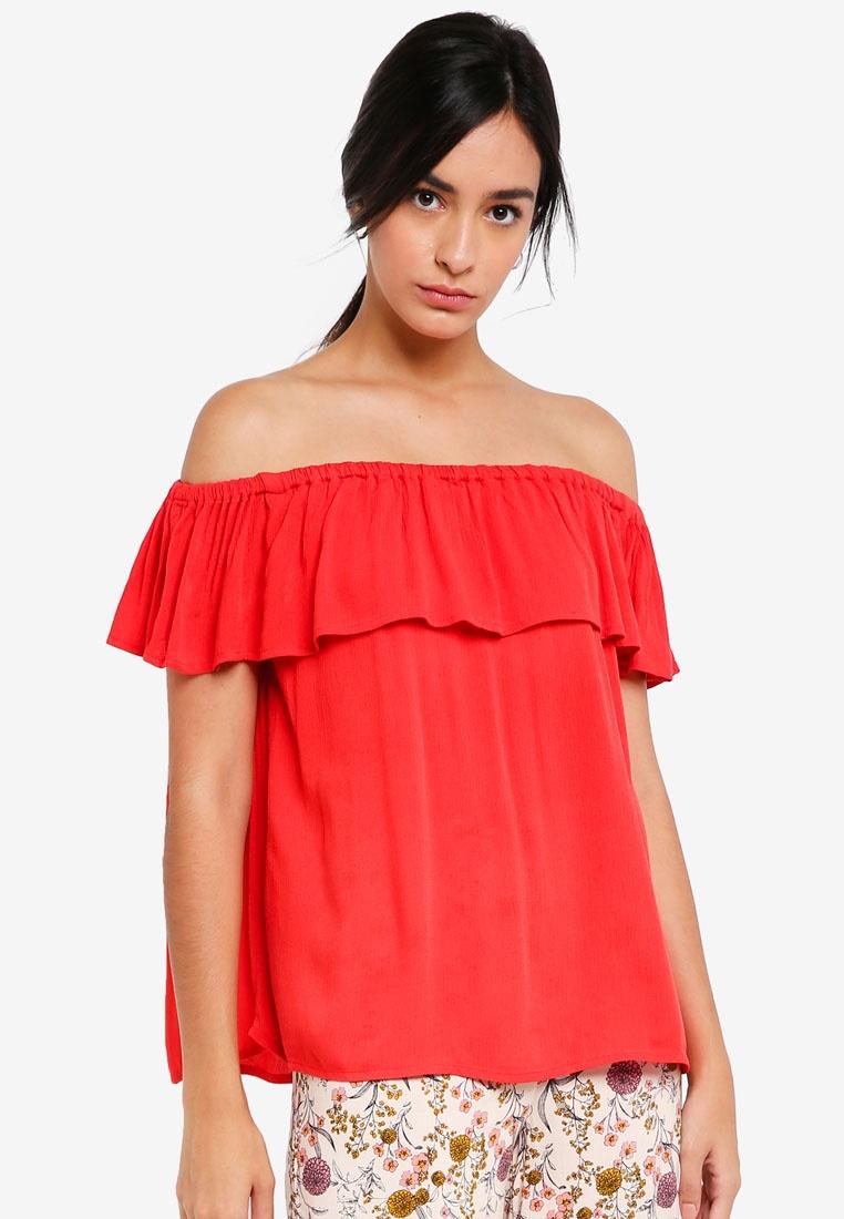 Top Marrakech Aurora ICHI Red Bardot WqYwO6wcp